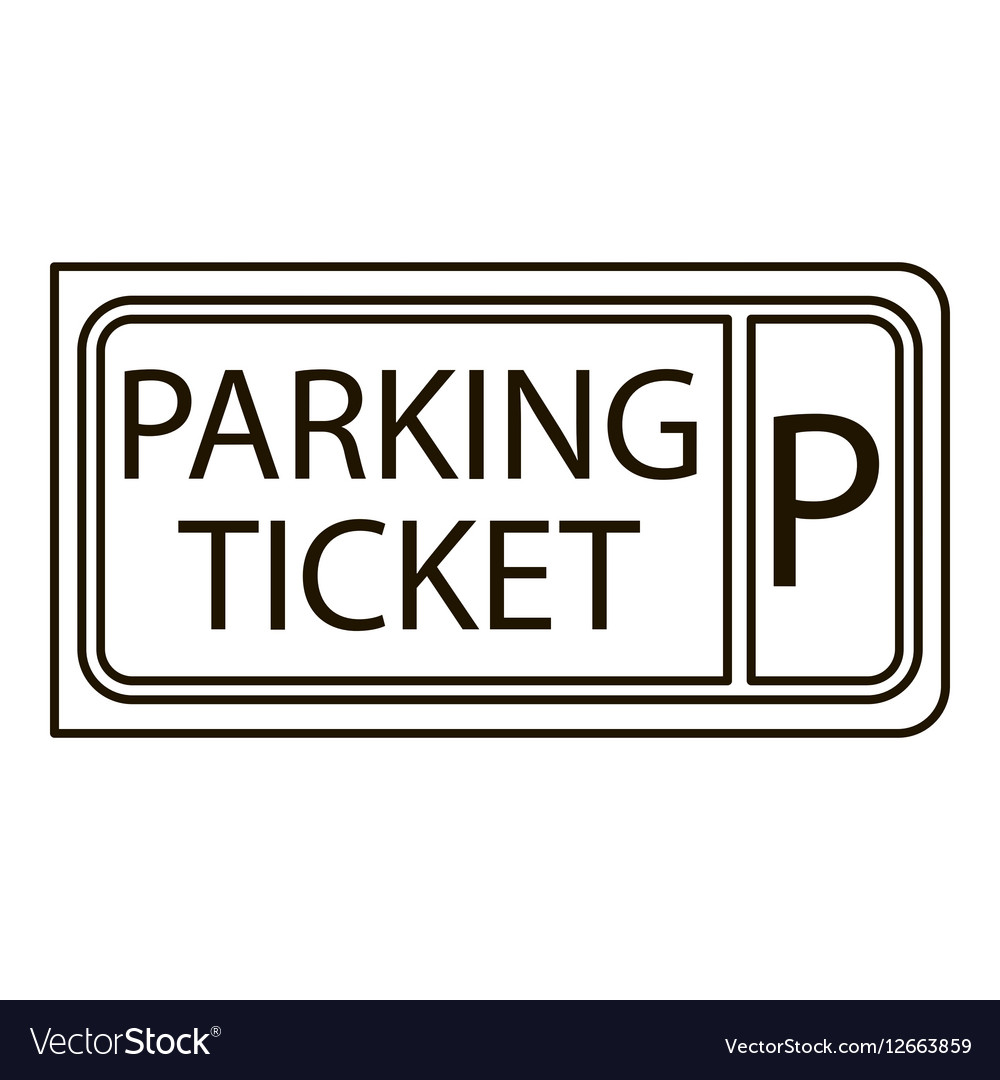 Parking ticket icon outline style
