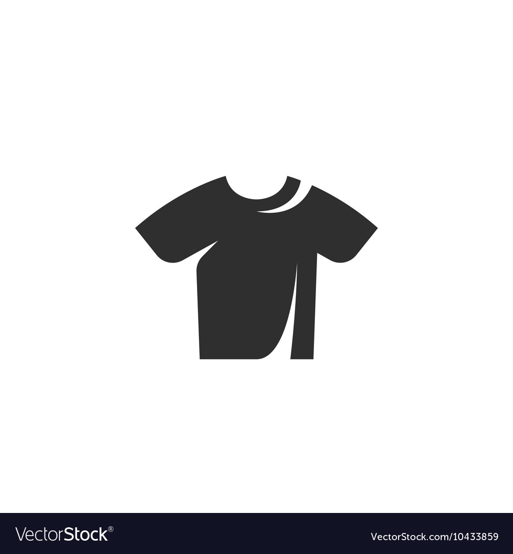tshirt icon isolated on a white background vector image vectorstock