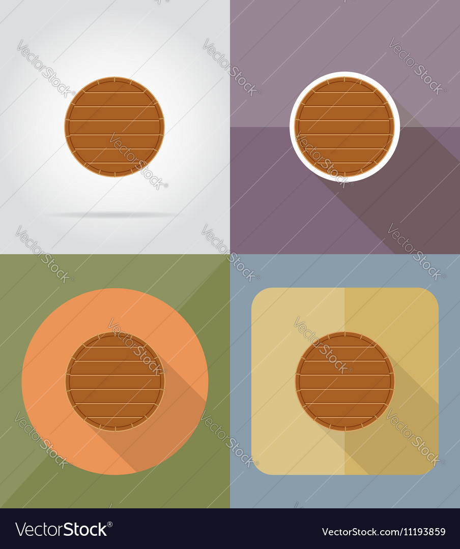 Wooden board flat icons 13
