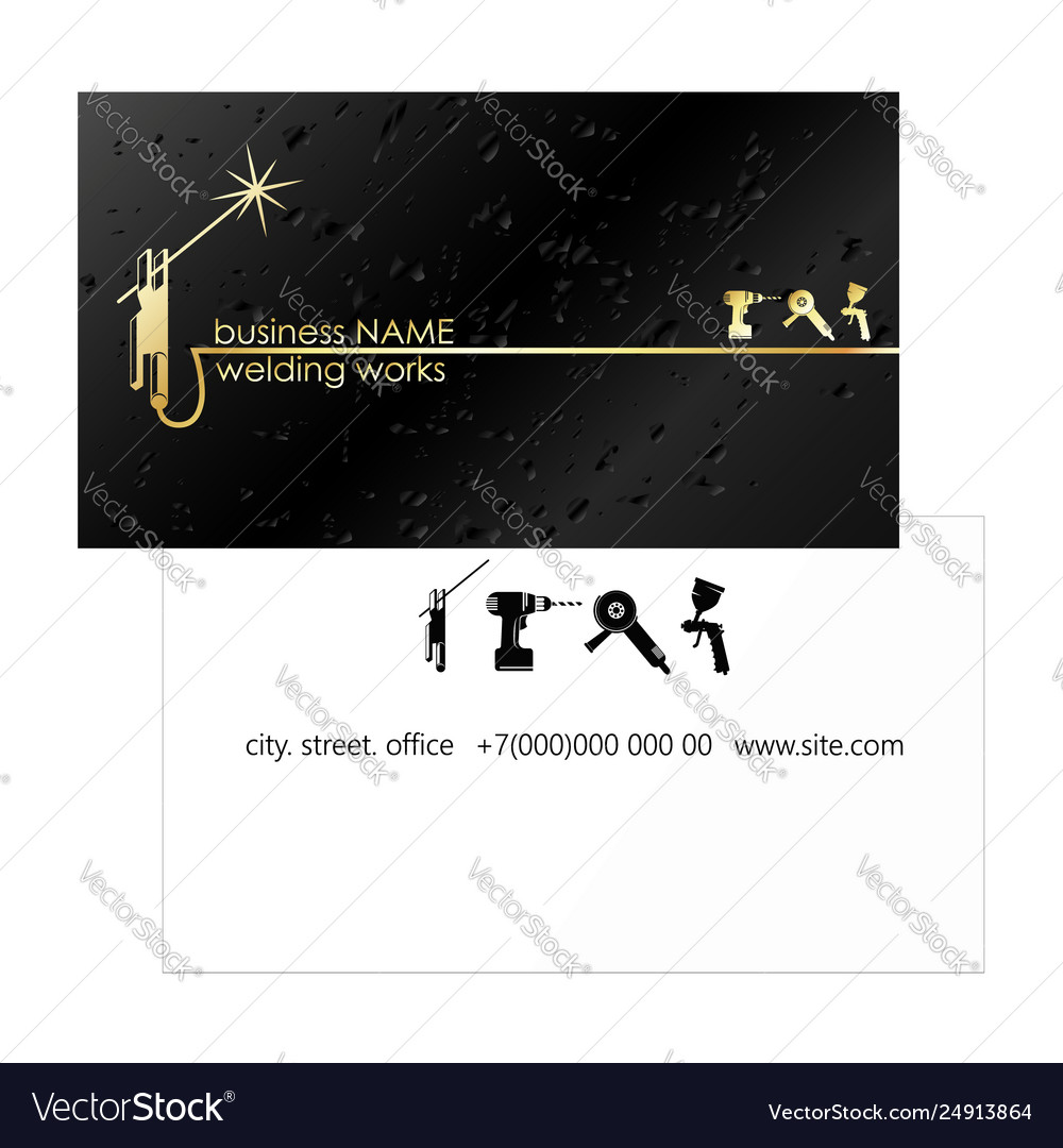 Business Card For Welder Royalty Free