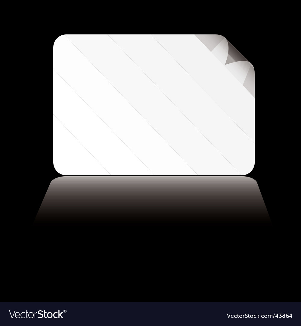 Business card white shadow