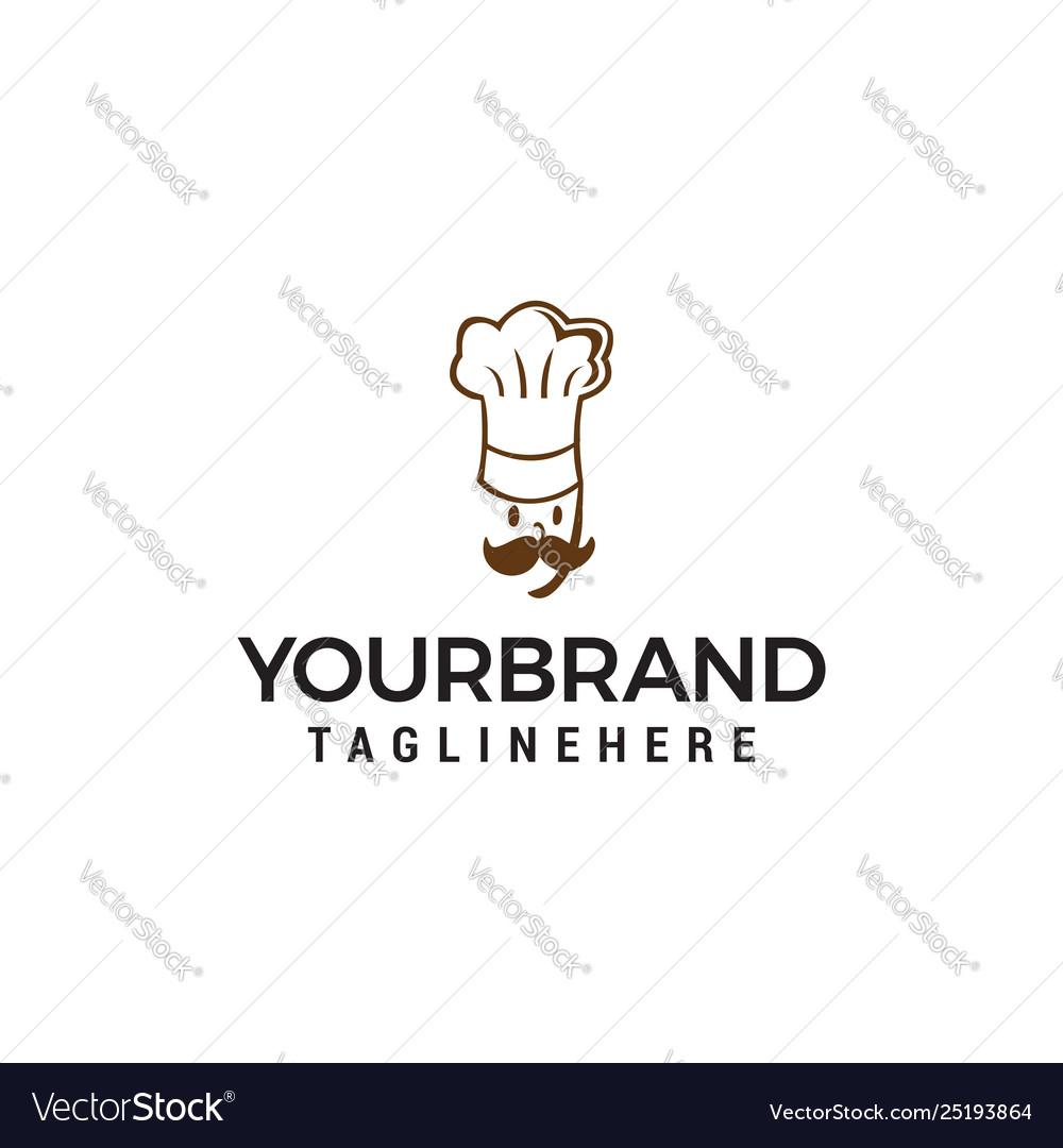 Chef logo design concept template