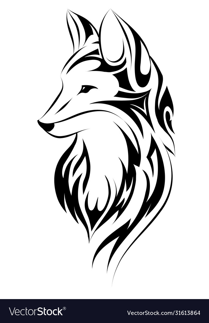 Fox Tattoo Simple Design Royalty Free Vector Image Explore cool ink ideas with simplicity and deep symbolism. vectorstock