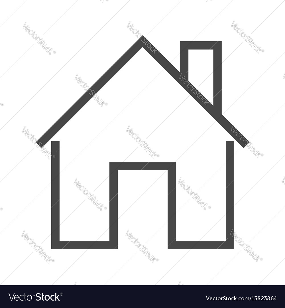 Home thin line icon