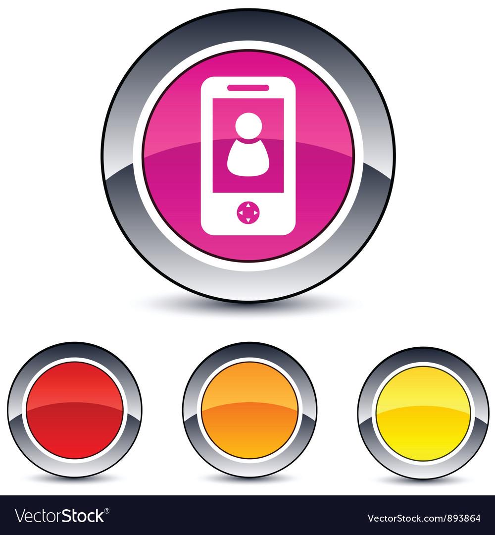 Person round button vector image