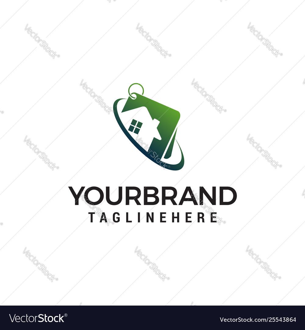 Property house logo design concept template