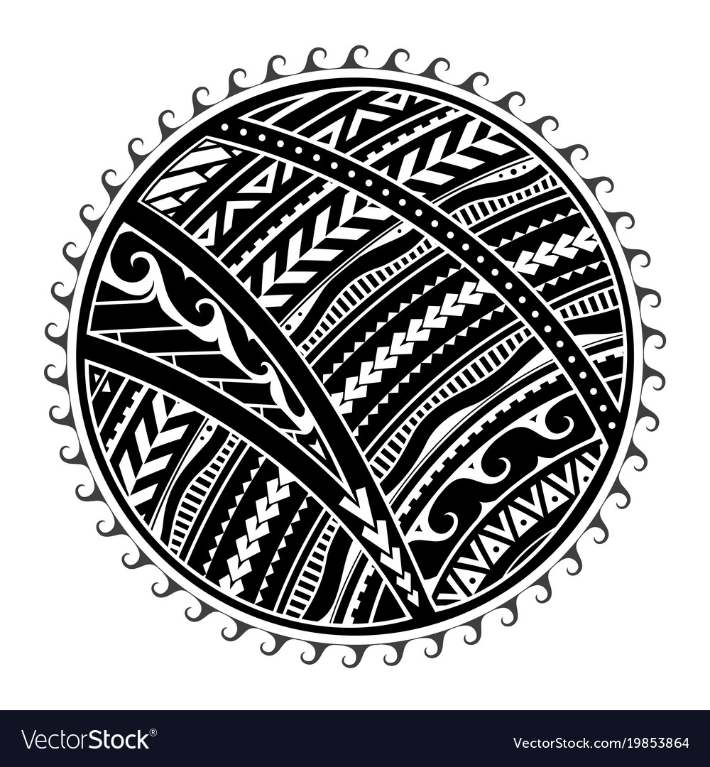 38fc00810 Tribal tattoo in maori style Royalty Free Vector Image