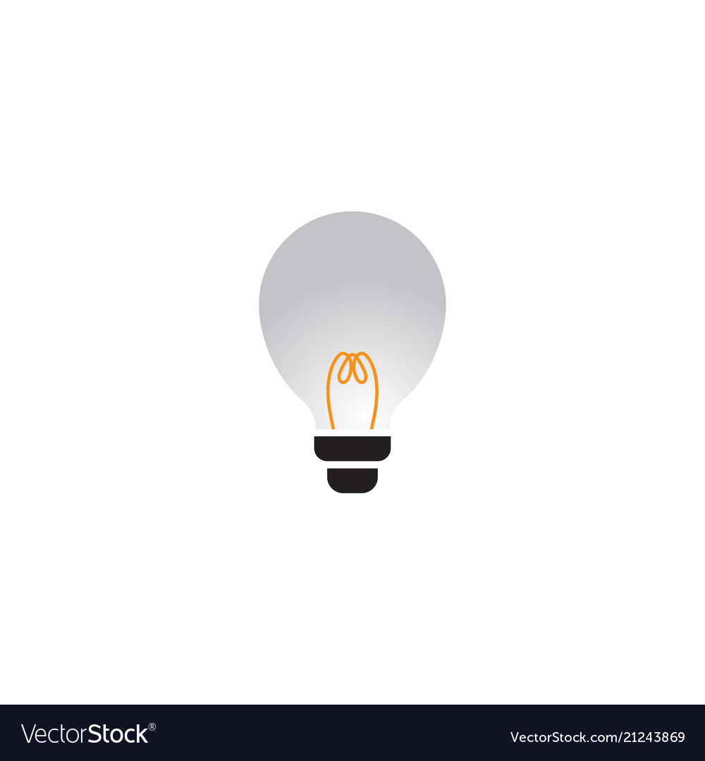Abstract lamp logo design template Royalty Free Vector Image