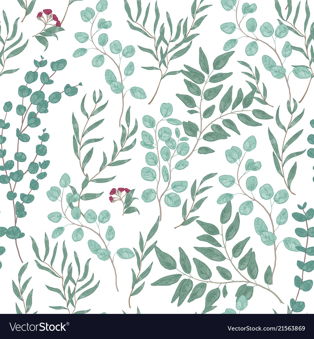 Antique floral seamless pattern with beautiful