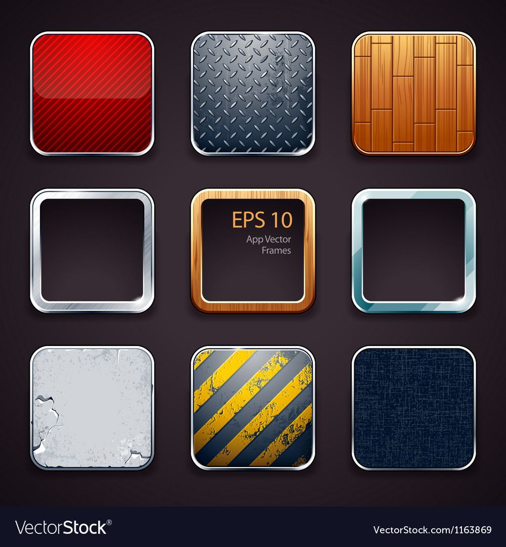 backgrounds for apps icons royalty free vector image