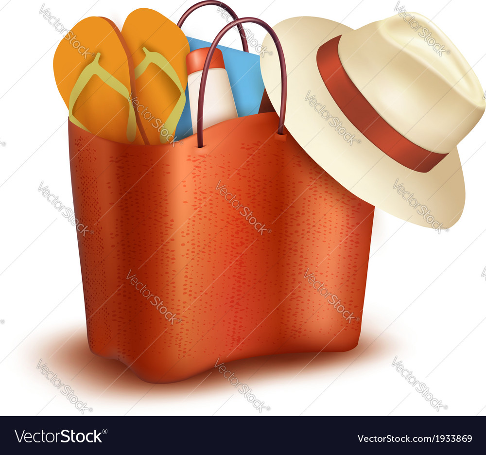 Beach bag with swimming suit