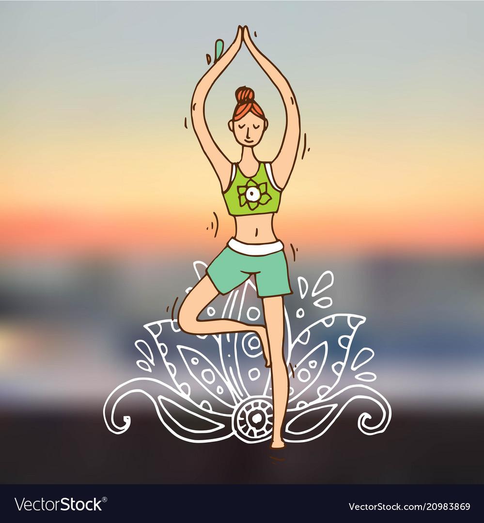 Beautiful hand drawn do yoga
