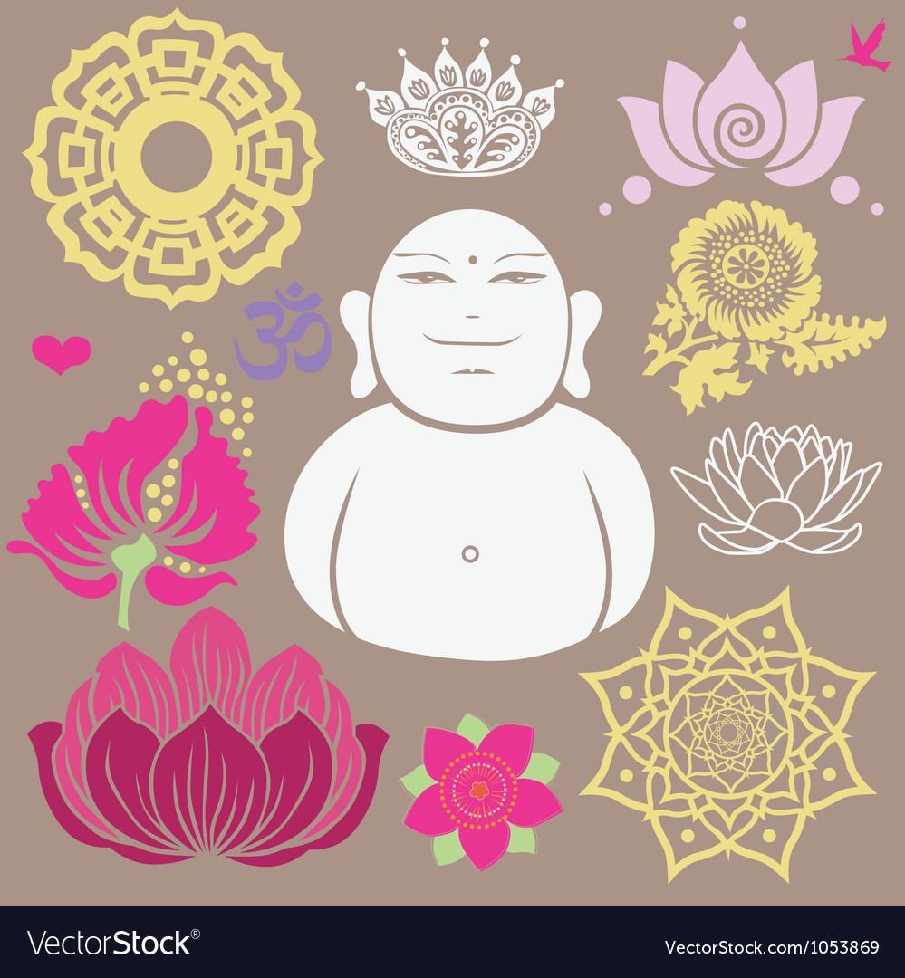Budda set vector image