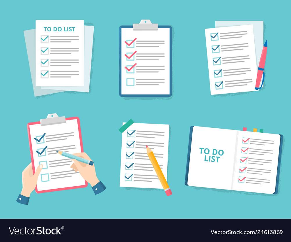 Business checklist priority list checks check
