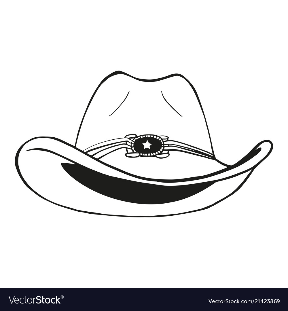 5fd0bbd0 Cowboy hat - vintage engraved Royalty Free Vector Image