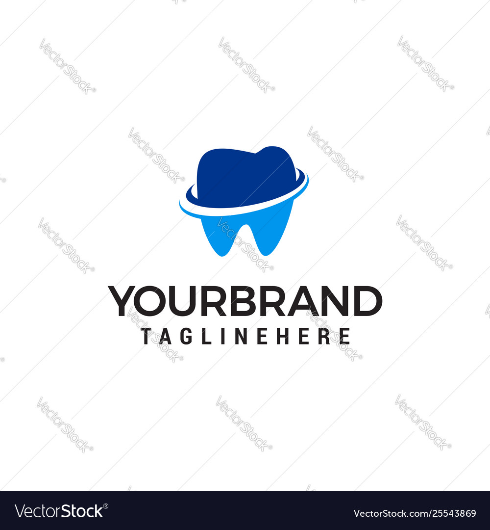 Dental care logo design concept template