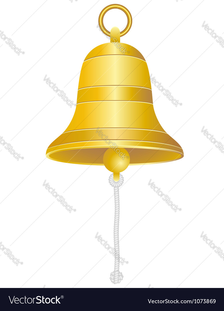 Ship bell vector image