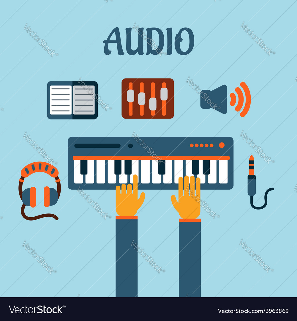 Sound recording flat concept