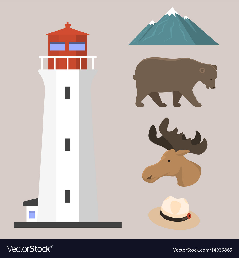 Travel canada traditional objects country tourism