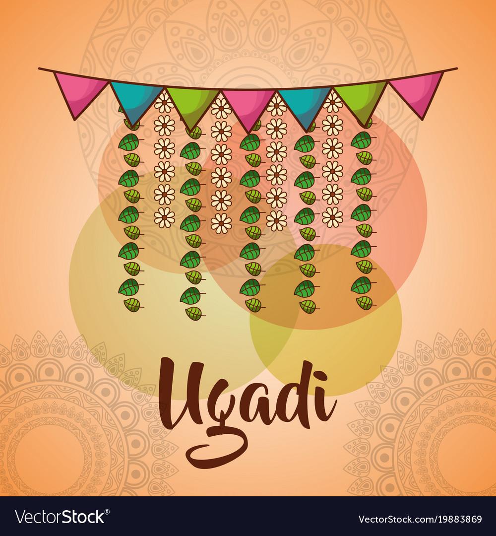 Ugadi celebration garland flowers mandala
