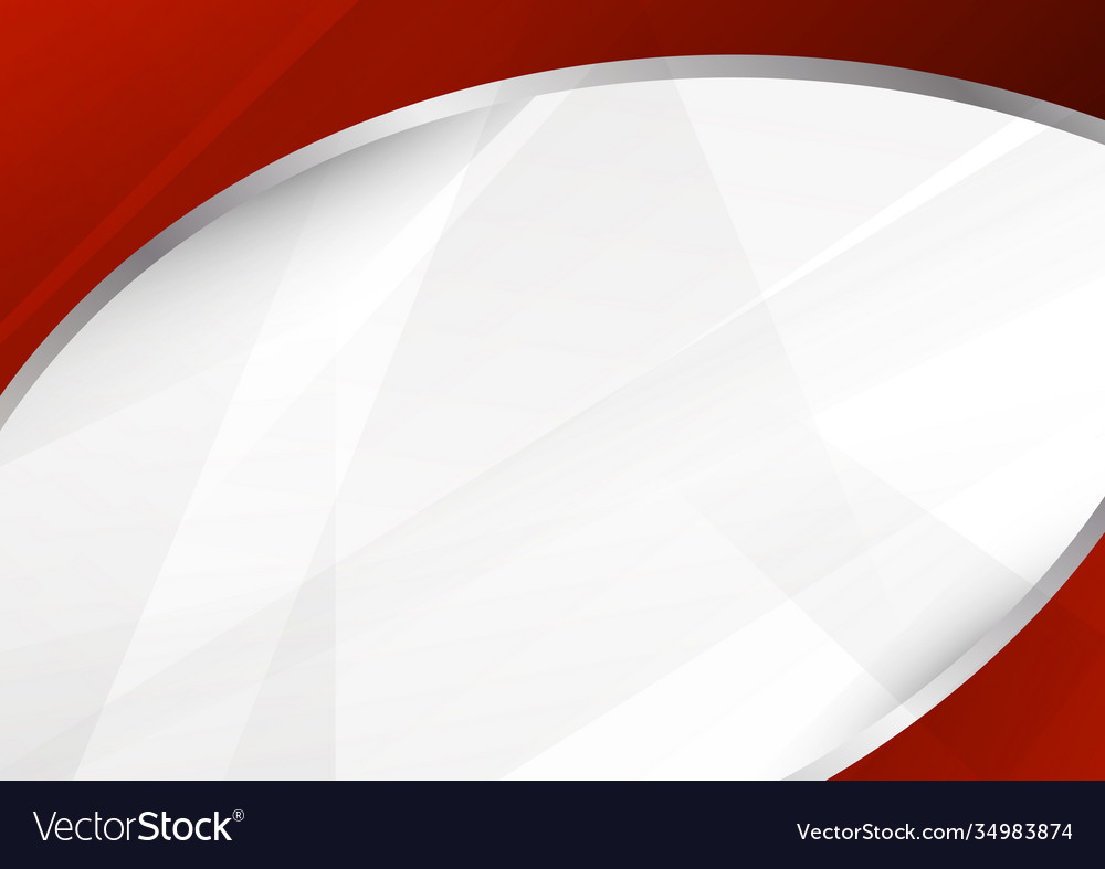 Abstract template red and white curve overlapping