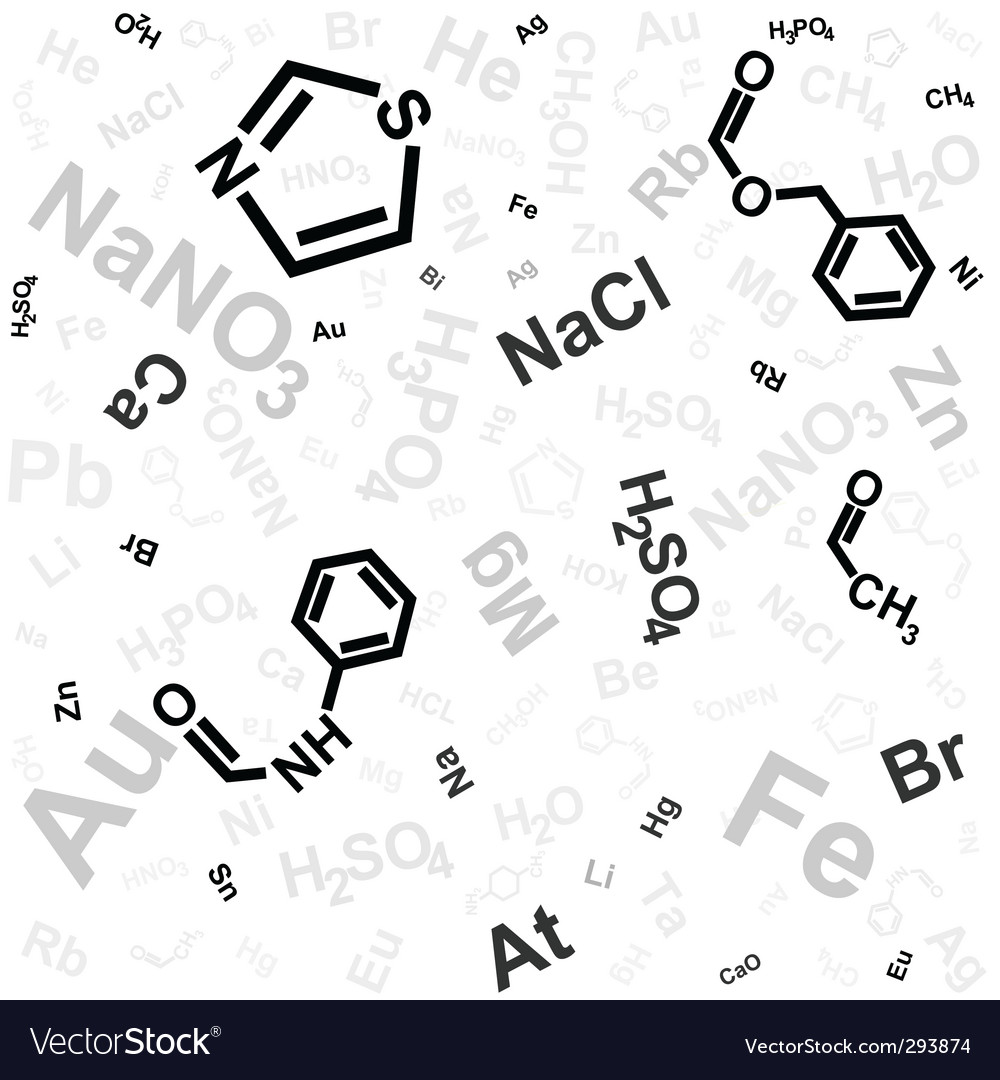 Chemical Background Royalty Free Vector Image Vectorstock