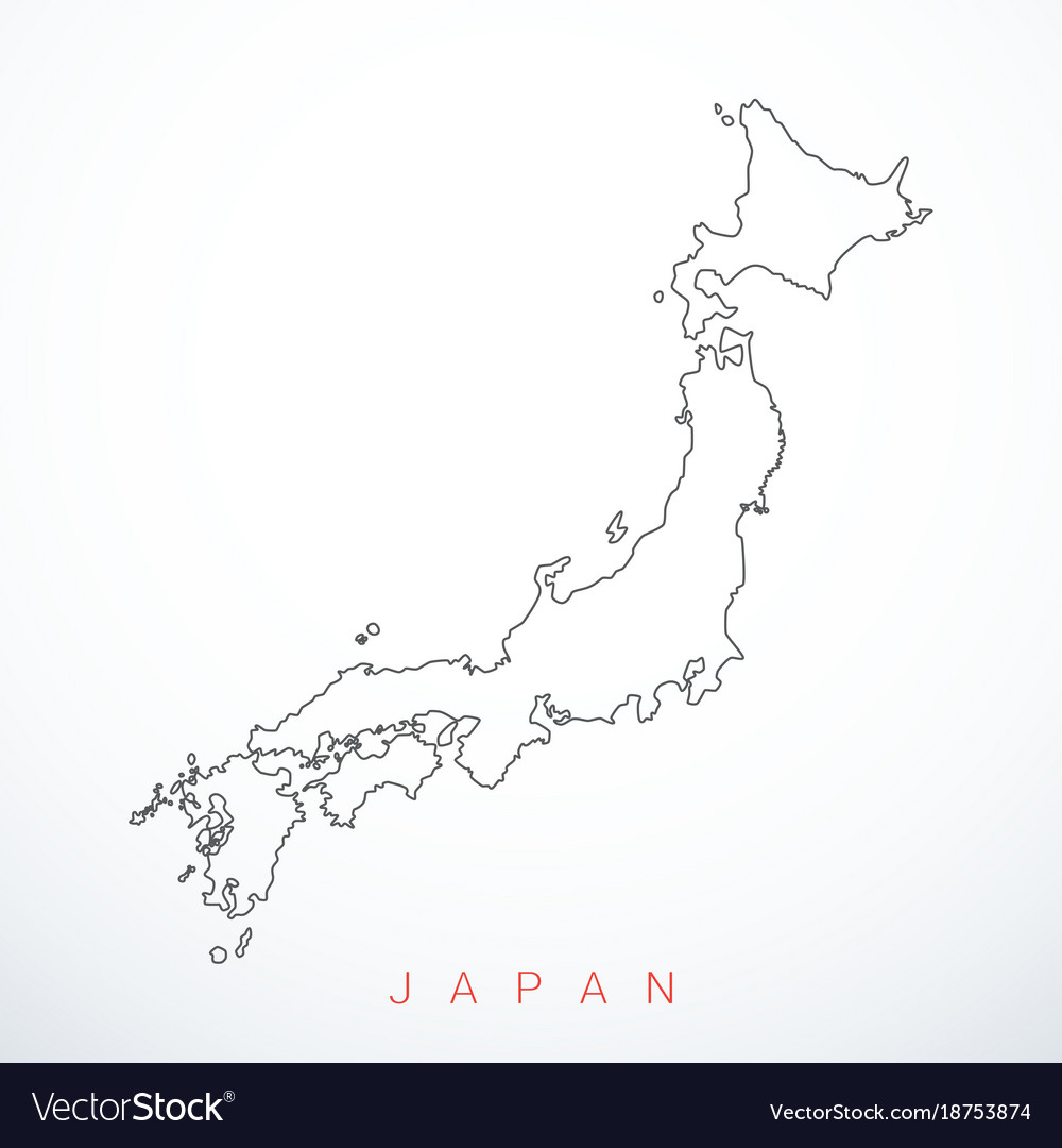 Contour japan map royalty free vector image vectorstock contour japan map vector image gumiabroncs Images