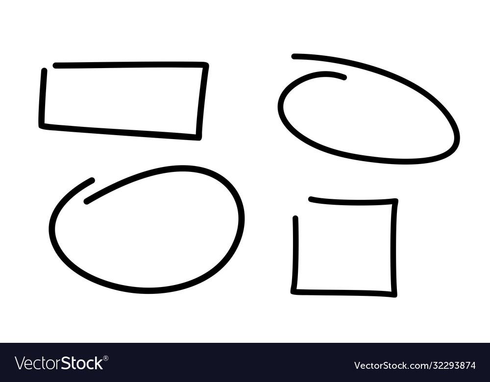 Doodle frames isolated on white background