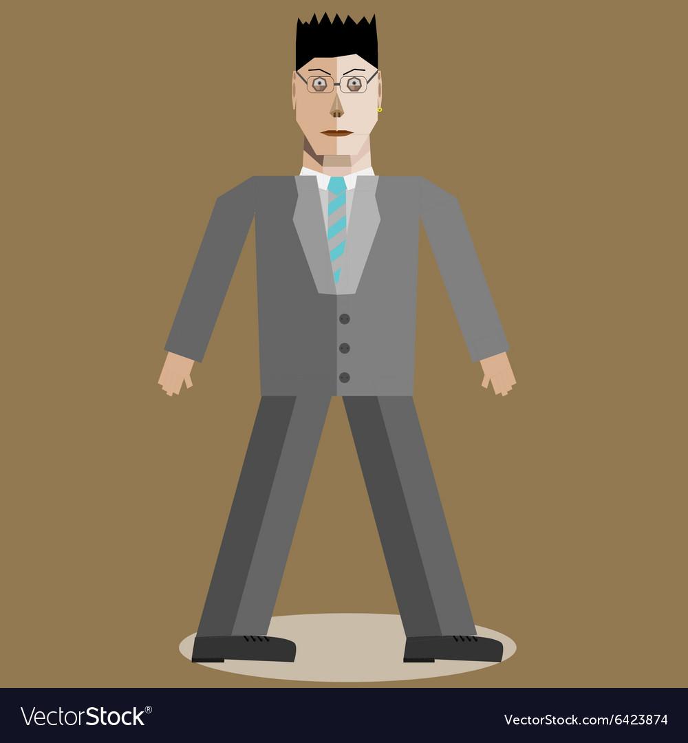 Geometric businessman vector image