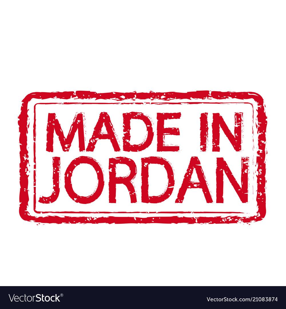 Made in jordan stamp text