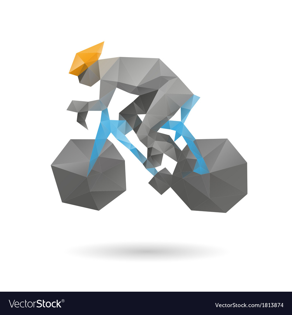 Racing cyclist abstract vector image