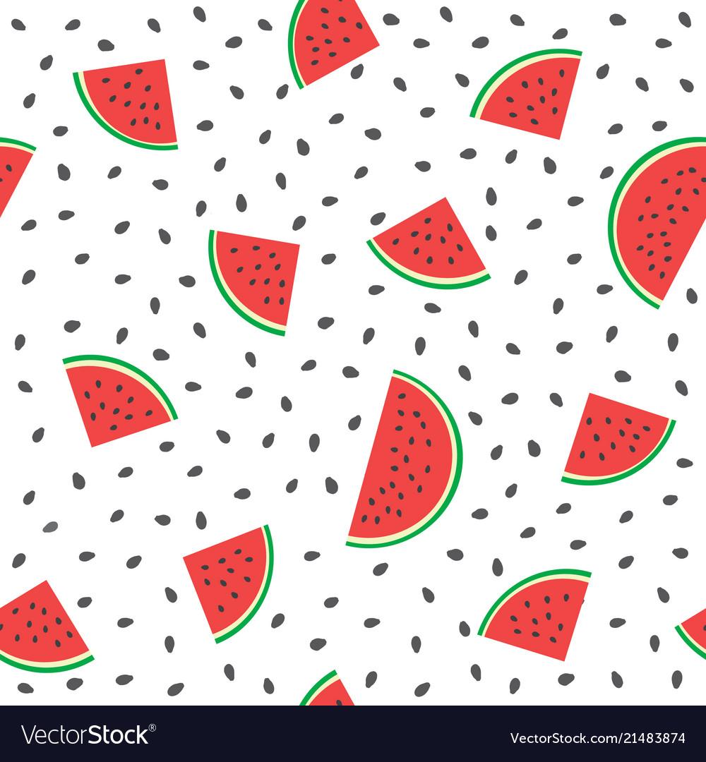 Seamless watermelons pattern background