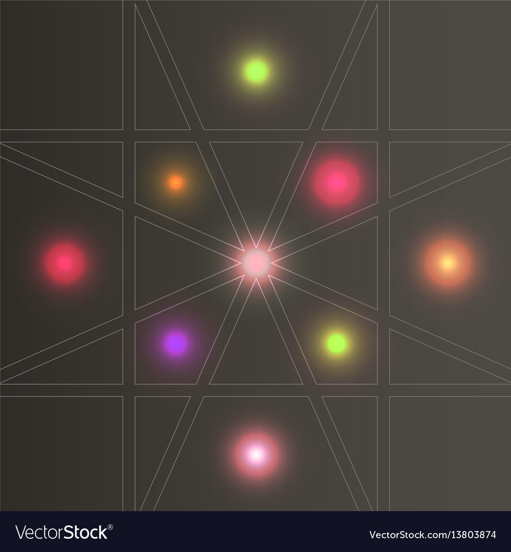 Set abstract color glow light effect vector image