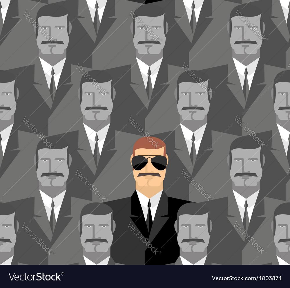 Spy Seamless pattern of people A crowd of men