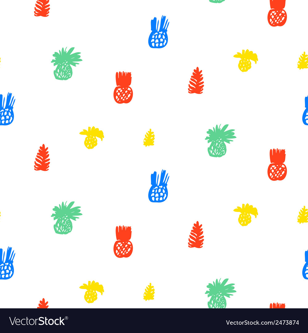 Tropical pattern with fruits and leafs