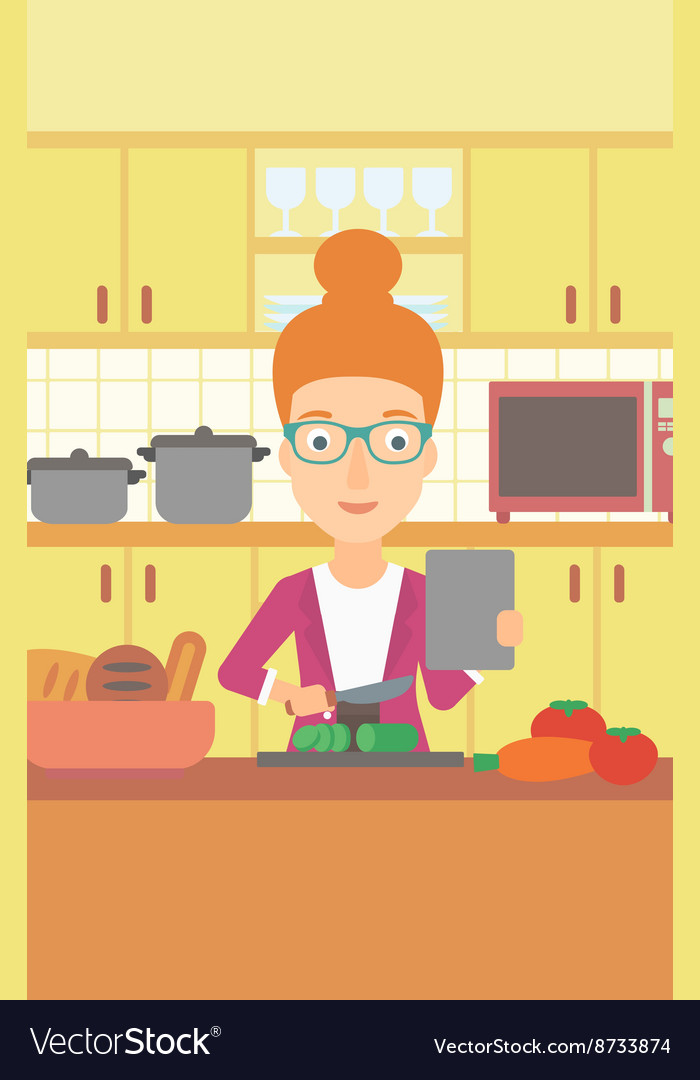 Woman cooking meal