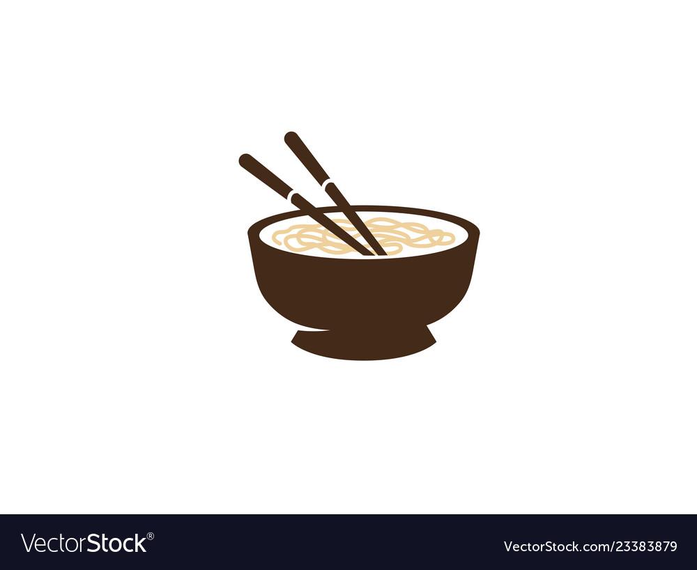 Bowl chopsticks of wood ivory or plastic