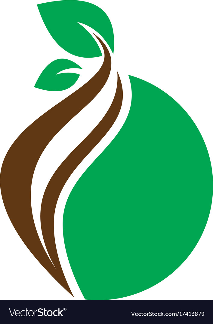 Circle leaf nature logo