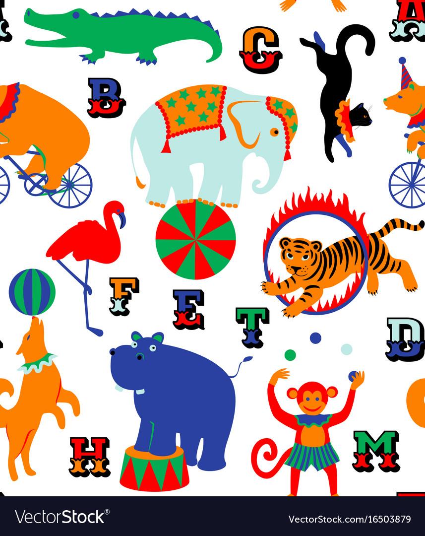 Circus cartoon animals