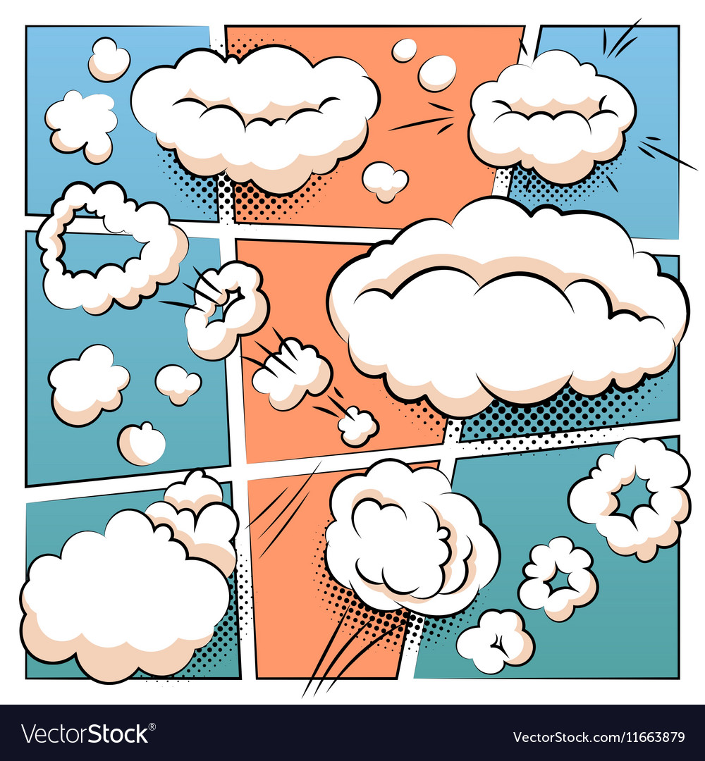 Comic Page Template Royalty Free Vector Image Vectorstock