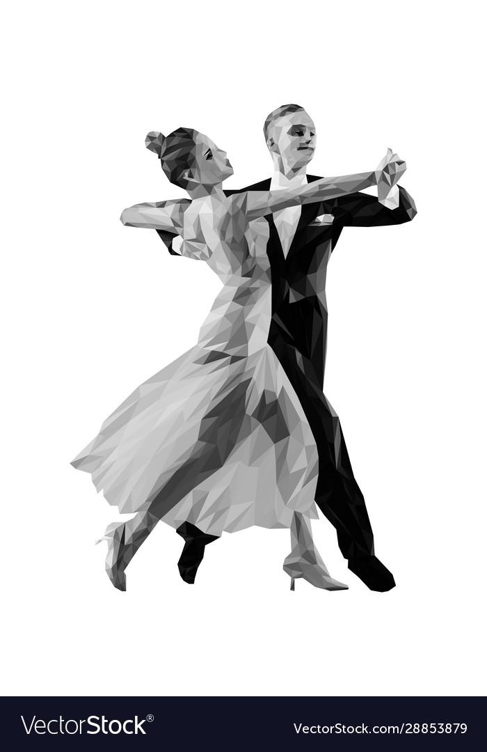 Couple Dancers Ballroom Dancing Royalty Free Vector Image