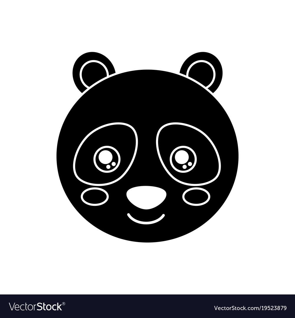 Cute animal panda bear head baby vector image