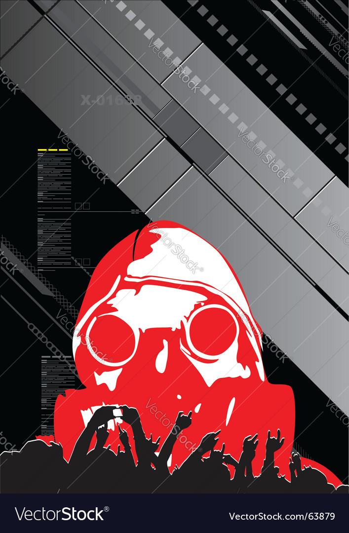Digital poster vector image