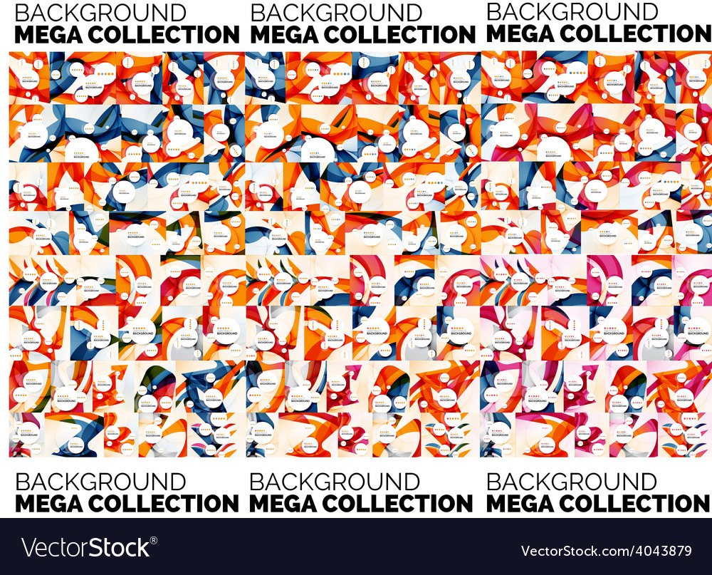 Mega set of abstract backgrounds vector image
