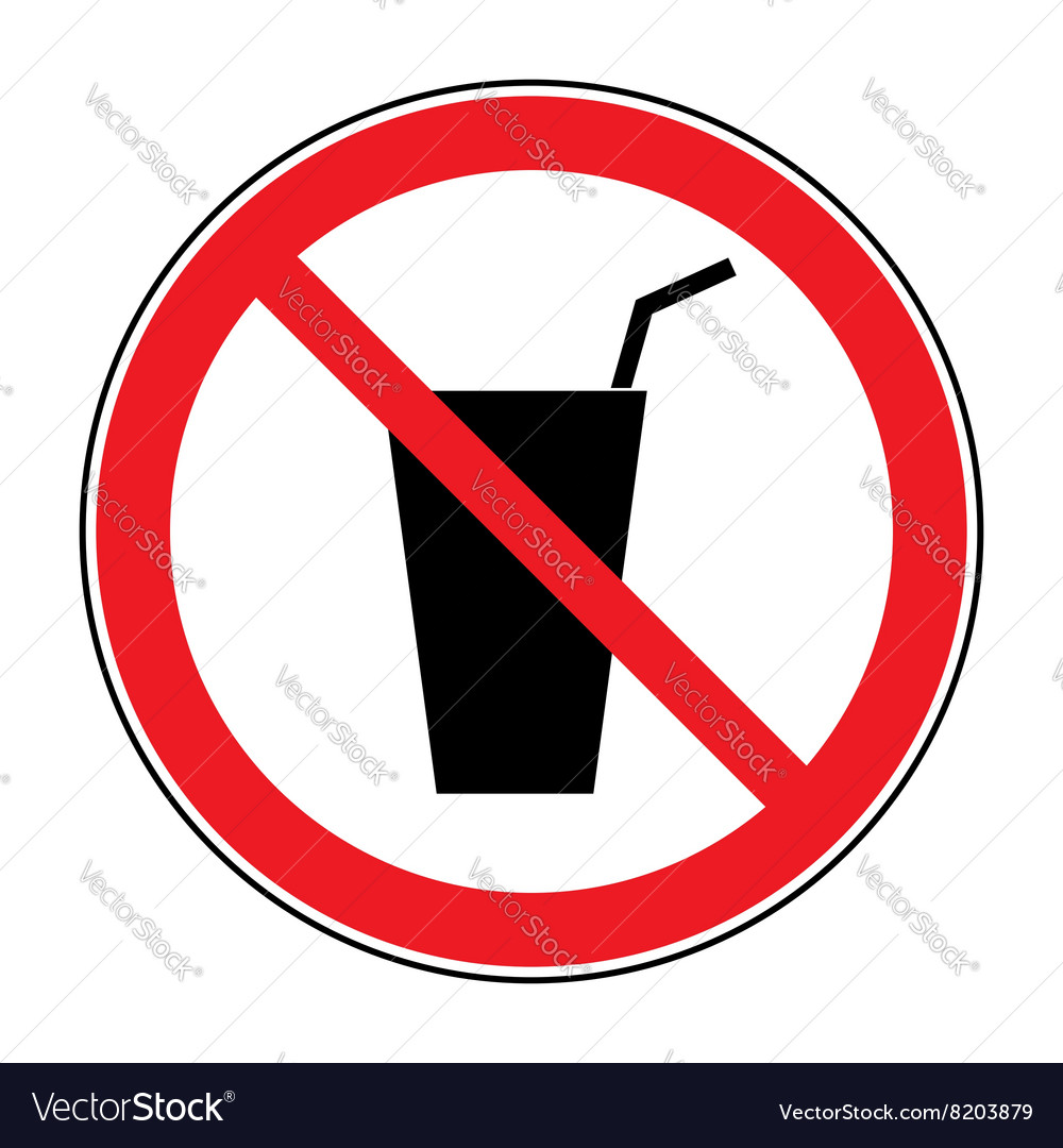 No drink sign vector image