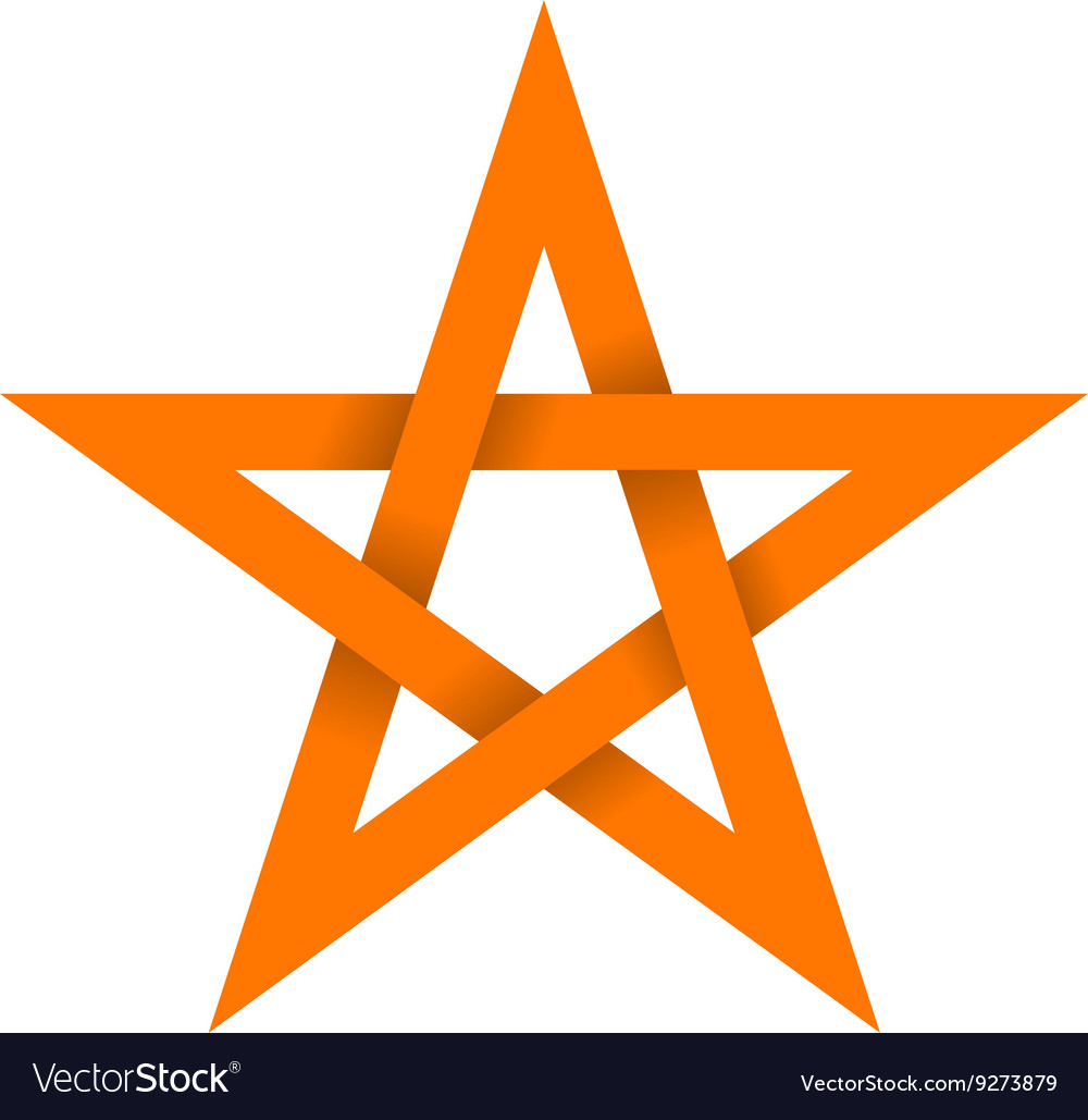 Orange star with shadow on intersections