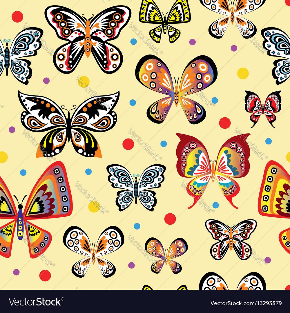 Seamless pattern with colorful beautiful
