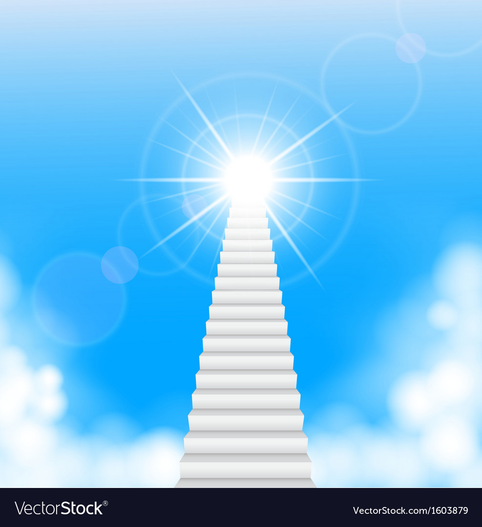 The Stairway To Heaven Royalty Free Vector Image