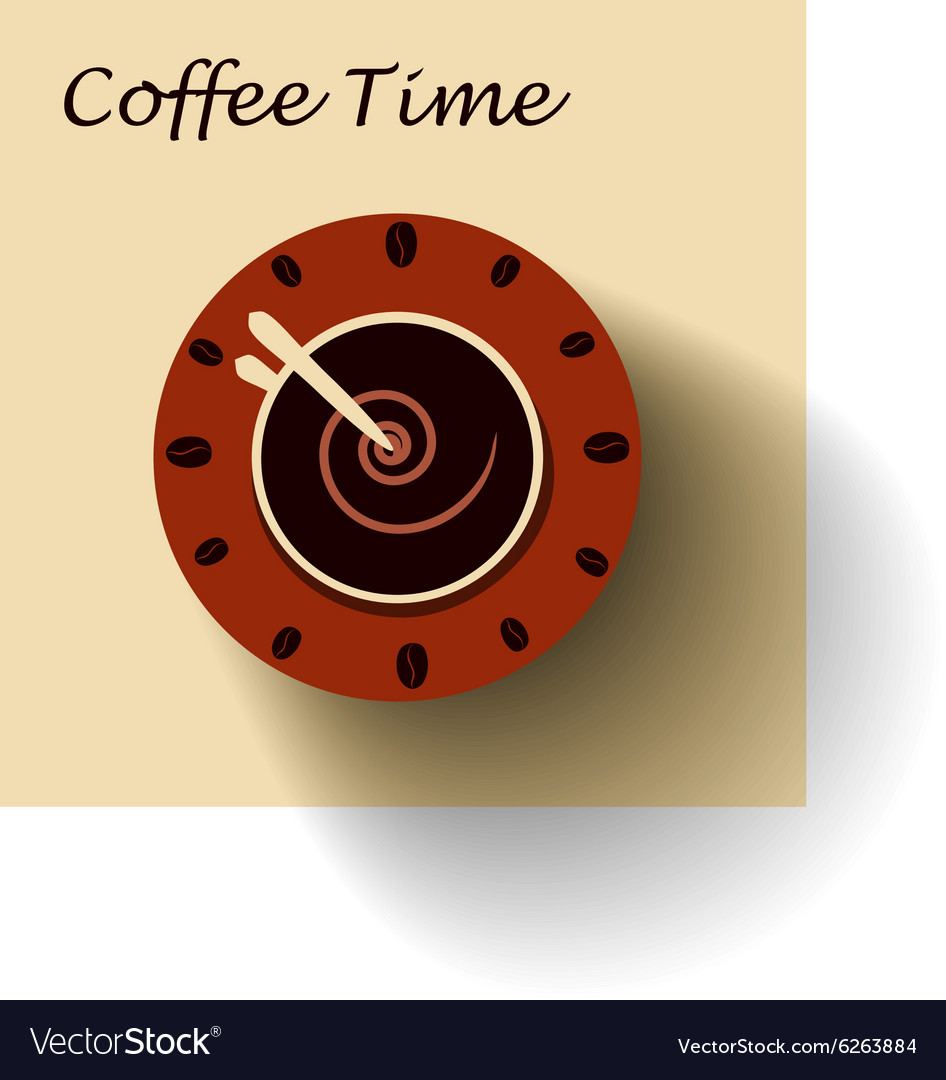 Coffee cup as clock