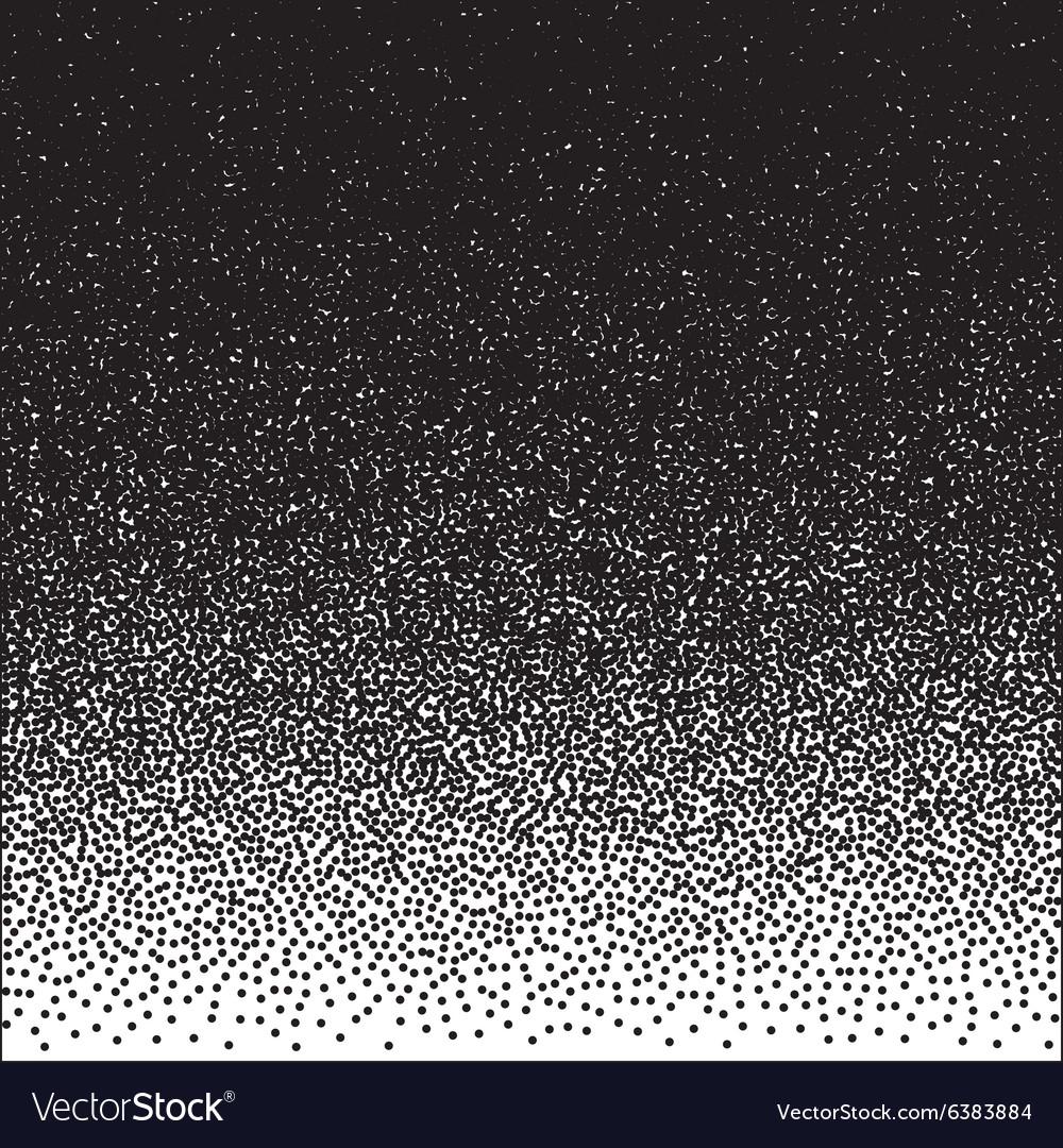 Halftone Dotwork Style Monochrome Gradient